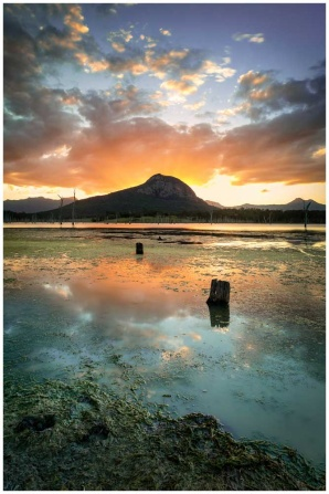 Stunning photo print of Lake Moogerah Sunset