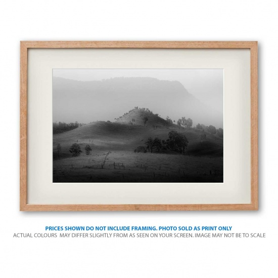 Rolling Hills landscape photo print in frame - display only