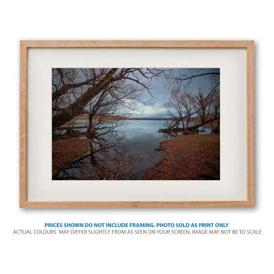 Moody Lake Alexandrina photo print in frame - display only