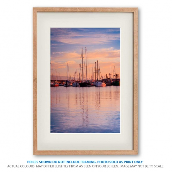 Apollo Bay sunset photo print in frame - display only