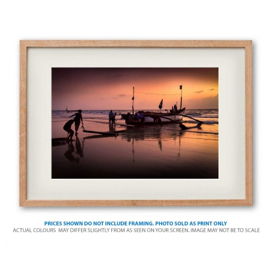 Tropical fisherman seascape photo print