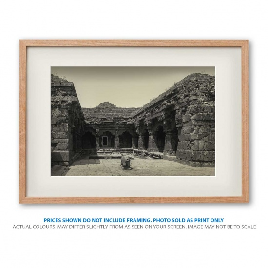 Historical temple landscape photo print in frame - display only