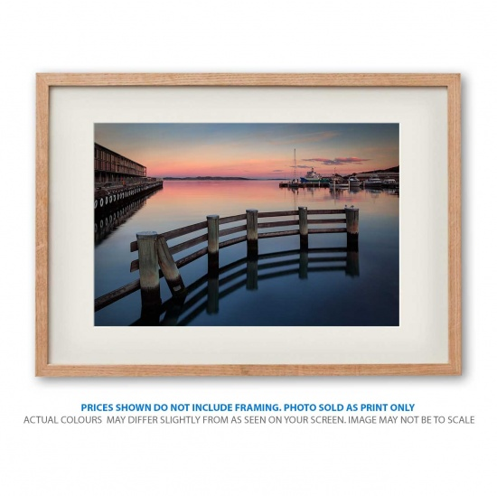 Beautiful sunset at Tasmania photo print in frame - display only