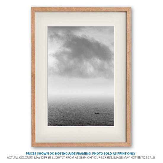 Adventurous soul seascape photo print in frame - display only