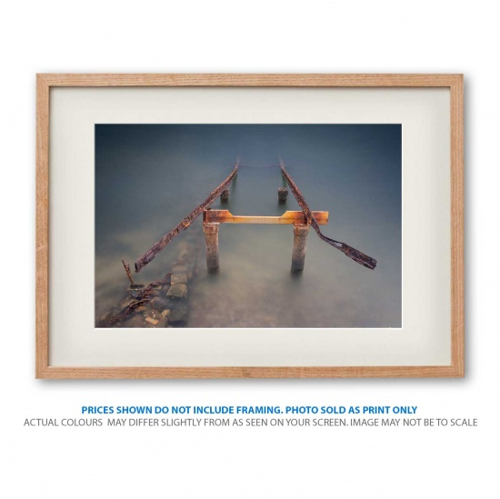 Rusty Pier photo print in frame - display only