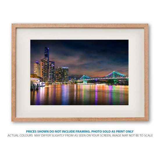 Reflections of Brisbane - Photo print in frame - display only