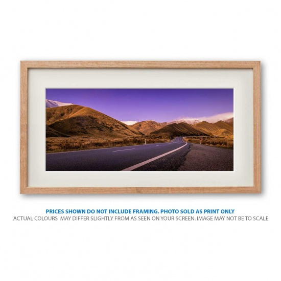 Purple Skies landscape photo print in frame - display only