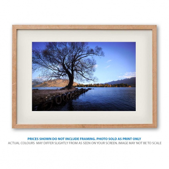 Blissful morning landscape photo print in frame - display only
