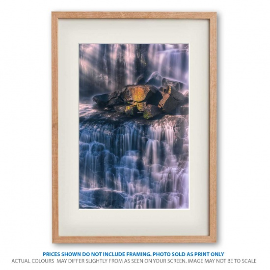 Ebor Elegance waterfall photo print in frame - display only