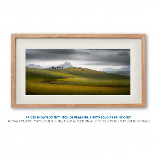 Rolling storm landscape photo print in frame - display only