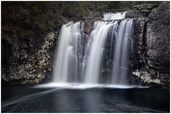 pencil pine waterfall at Cradle Mountain
