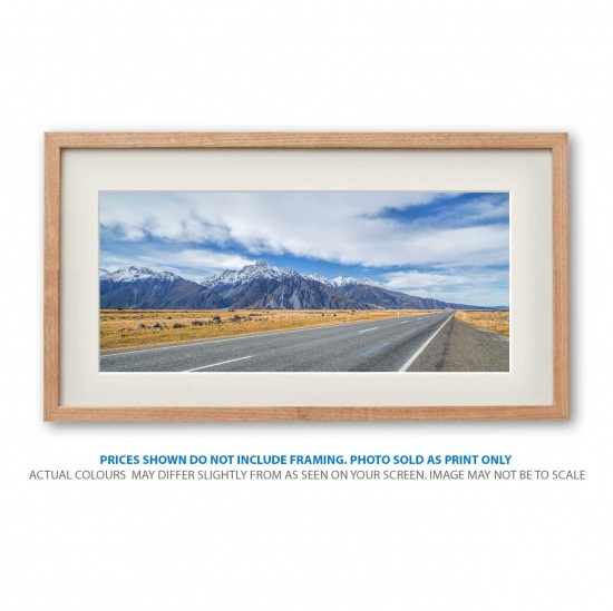 Pure New Zealand landscape photo print in frame - display only