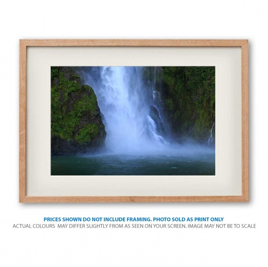 Milford Sound Waterfall photo print in frame - display only
