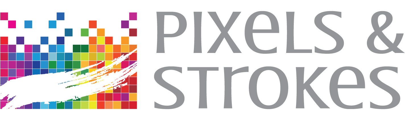 pixels and strokes logo
