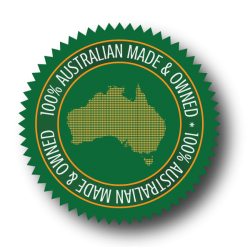aus made circular stamp