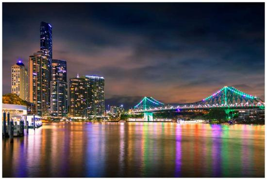 Reflections of Brisbane - Photo print