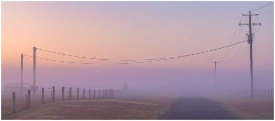 Foggy mystery landscape photo print