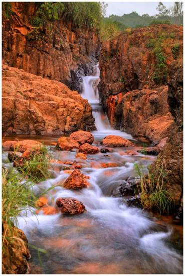 Red Stone Falls waterfall photo print