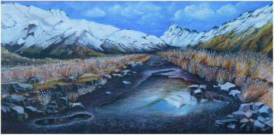 Mt Cook acrylic painting